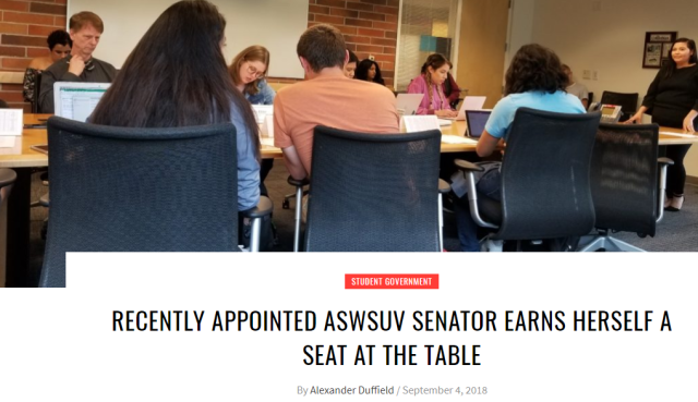 AWSUV Senator Capture
